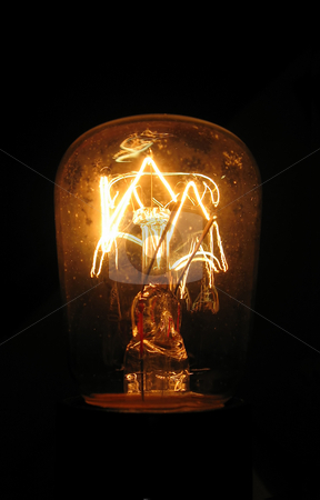 Old Lightbulb (5394) stock photo, Old Vintage lightbulb, still working by Germán Ariel Berra
