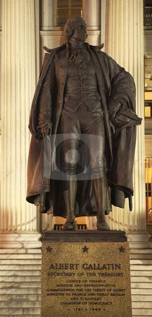 Albert Gallatin Statue US Treasury Department US Treasury Depart stock photo, Albert Gallatin Statue, US Treasury Department Washington DC by William Perry