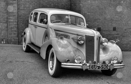 Buick Saloon stock photo, Restored Buick car on display at  Bournemouth by Robert Ford