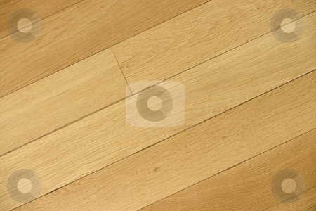 Floorboards  stock photo, Edge to edge wood texture shot of oak floorboards. Slight side light to highlight contours. by Martin Darley