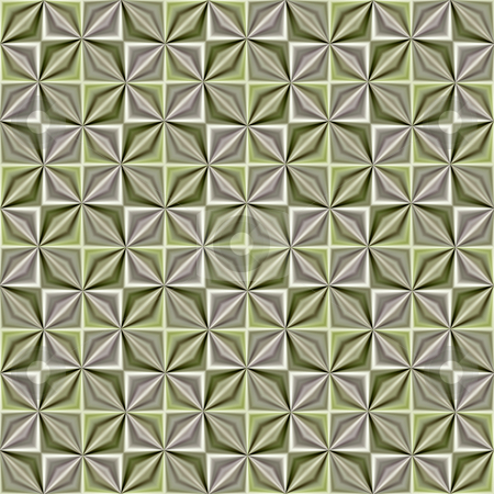 Silk squares pattern stock photo, Seamless texture with soft green and tan mills in cubes by Wino Evertz