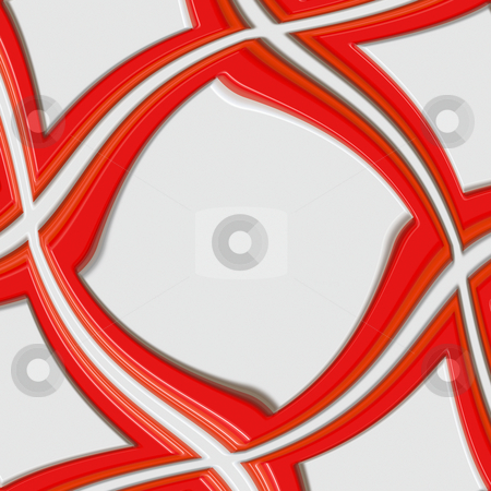 Swirling red 3d frame stock photo, Elegant bright red frame in symmetric curve by Wino Evertz