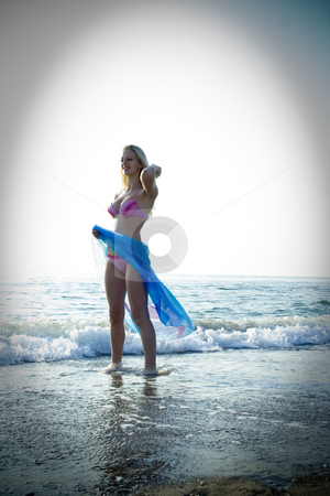 Pretty  women stock photo, The beautiful young girl has a rest on a beach by Aleksandr GAvrilov