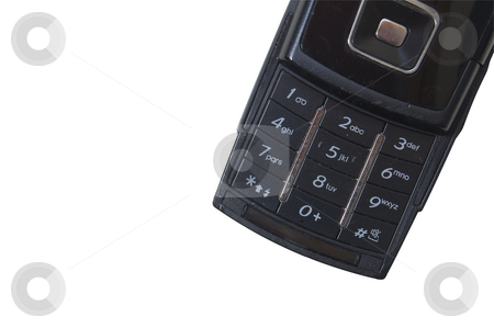 Mobile phone, cropped on white stock photo, A mobile phone isolated on white and cropped with copy-space. by Jeff Carson