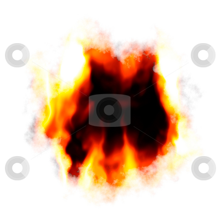 Fiery Hole Layout stock photo, A fiery background with a hole burnt in the center.  Plenty of copyspace for your text. by Todd Arena