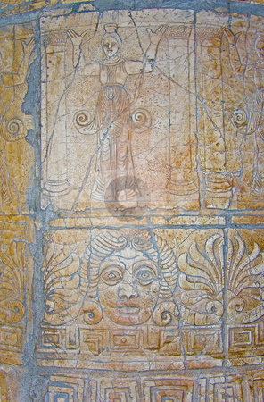 Ancient column stock photo, Detail of ancient column by Minka Ruskova-Stefanova