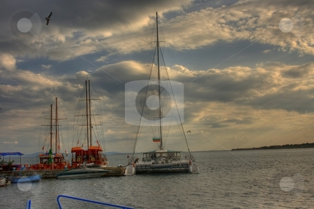 Three yachts stock photo, Three yachts by Minka Ruskova-Stefanova