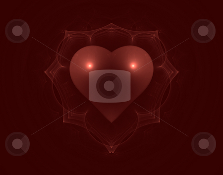 Heart stock photo, Abstract background illustration - red heart by J?