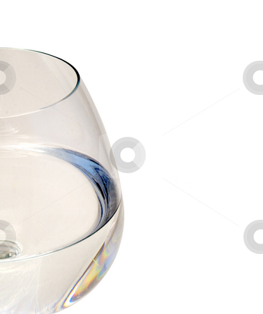 Glas stock photo, Silhouette of a water glass on white background by Fabio Alcini