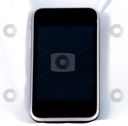 Phone stock photo, Last generation telephone isolated on a white background by Fabio Alcini