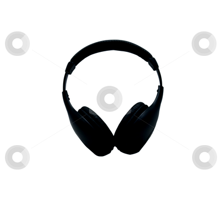 Headphones stock photo, Black wireless headphones on a white background by Fabio Alcini