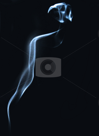 Smoke stock photo, Strange shape of smoke on a black background by Fabio Alcini