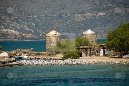 Elounda stock photo, The place in Greece, Elounda, where the movie: Who pays the ferryman was recorded by Chris Willemsen