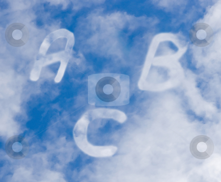 Letters a b c stock photo, Letters for study in the sky by Chris Willemsen