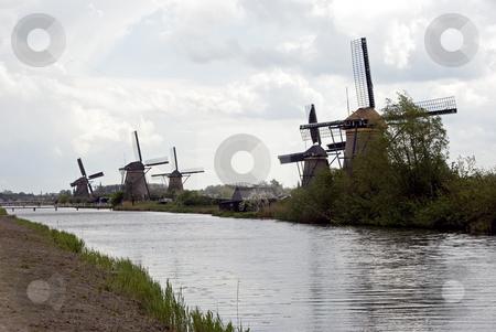 Kinderdijk stock photo, Windmills in holland by Chris Willemsen