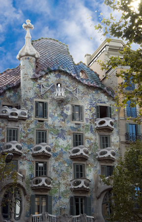Gaudi stock photo, House by gaudi in centre of barcelona by Chris Willemsen
