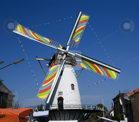 Windmill stock photo, Dutch windmill by Chris Willemsen