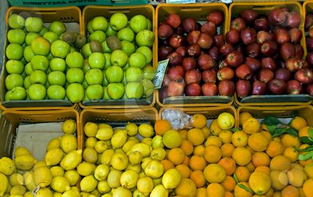 Fruit market stock photo, Fruit market on crete on greece by Chris Willemsen