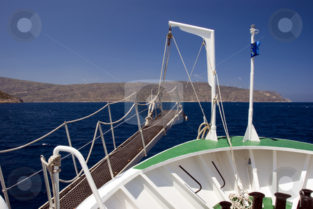 Sailing stock photo, Sailing to spina lon ga greece by Chris Willemsen