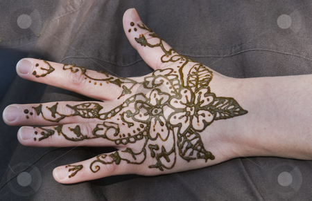 Henna stock photo, Beautiful henna tatoe on a woman hand by Chris Willemsen