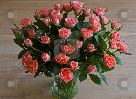 Roses stock photo, Bouqet of red roses as a present for love by Chris Willemsen