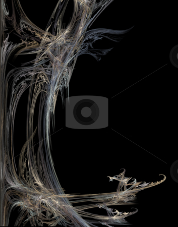 Abstract gothic stock photo, Abstract gothic background illustration - lines disorder on black by J?