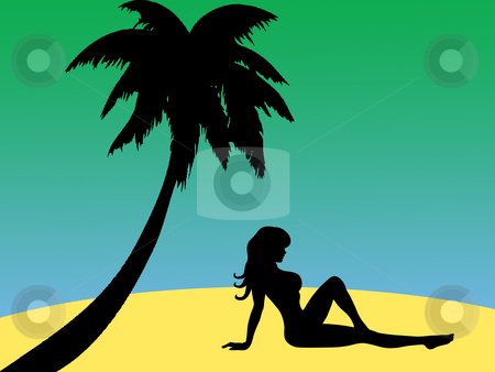 On the beach stock photo, Girl on the beach by Minka Ruskova-Stefanova