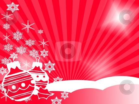 Christmas stock photo, Christmas background in red by Minka Ruskova-Stefanova