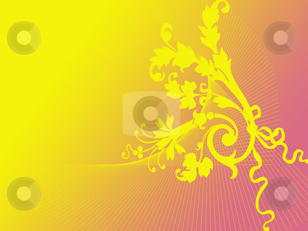 Yellow bouquet stock photo, Yellow bouquet on gradient background by Minka Ruskova-Stefanova