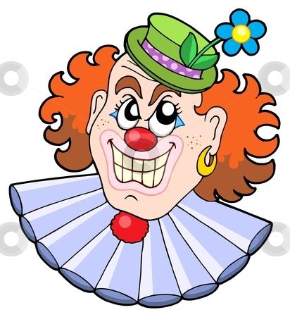 Evil clowns head stock vector clipart, Evil clowns head - vector illustration. by Klara Viskova