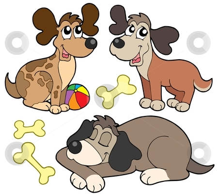 Cute dogs collection stock vector clipart, Cute dogs collection - vector illustration. by Klara Viskova