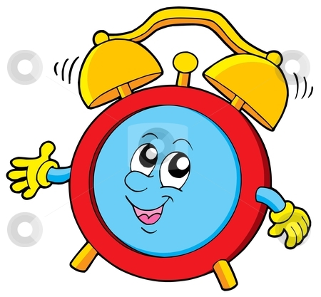 Cartoon alarm clock stock vector clipart, Cartoon alarm clock - vector illustration. by Klara Viskova