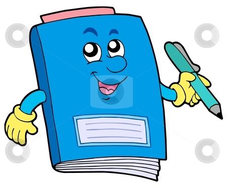 Cartoon exercise book stock vector clipart, Cartoon exercise book - vector illustration. by Klara Viskova