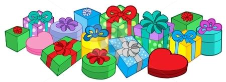 Lots of gifts stock vector clipart, Lots of gifts - vector illustration. by Klara Viskova