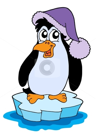 Penguin on iceberg vector illustration stock vector clipart, Penguin on iceberg - vector illustration. by Klara Viskova