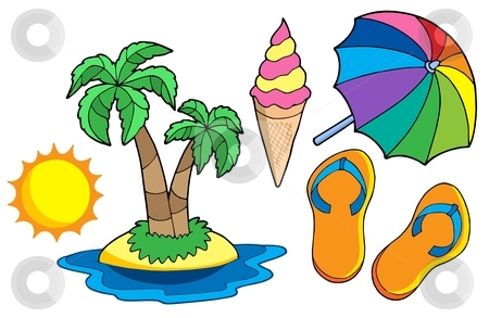 Collection of summer images stock vector clipart, Collection of summer images - vector illustration. by Klara Viskova