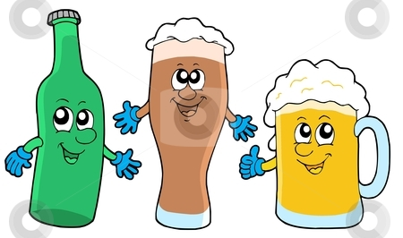 Cute beer collection stock vector clipart, Cute beer collection - vector illustration. by Klara Viskova