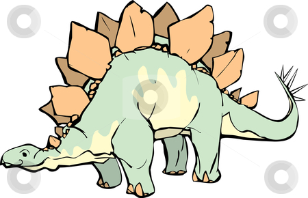 Stegosaurus  stock vector clipart, Stegosaurus  with a pleasant expression and yellow patterning. by Jeffrey Thompson