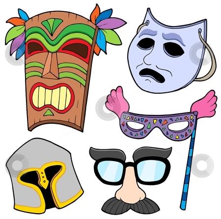 Various masks collection 2 stock vector clipart, Various masks collection 2 - vector illustration. by Klara Viskova