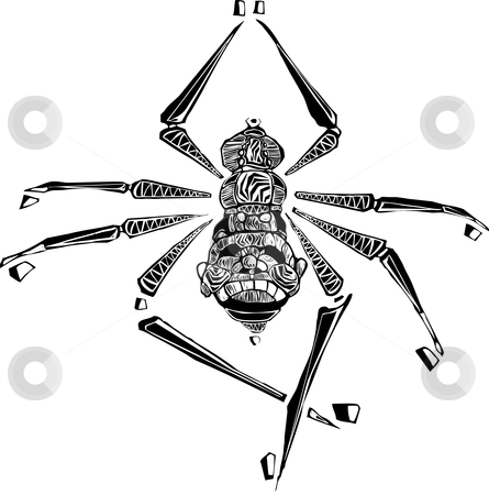 Spider stock vector clipart, Small spider image with 8 legs. by Jeffrey Thompson