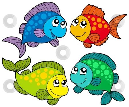 Cute cartoon fishes collection stock vector clipart, Cute cartoon fishes collection - vector illustration. by Klara Viskova