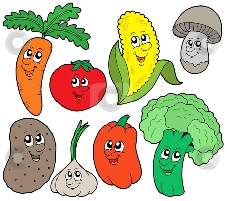 Cartoon vegetable collection 1 stock vector clipart, Cartoon vegetable collection 1 - vector illustration. by Klara Viskova