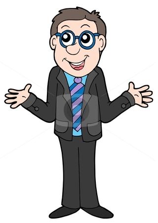 Businessman in black suit stock vector clipart, Businessman in black suit - vector illustration. by Klara Viskova