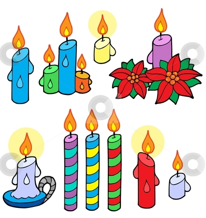 Candles collection stock vector clipart, Candles collection - vector illustration. by Klara Viskova