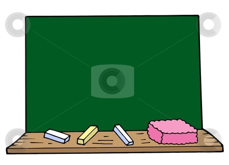 Blackboard stock vector clipart, Blackboard on white background - vector illustration. by Klara Viskova