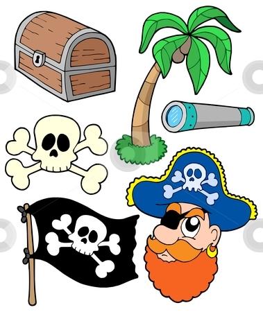 Pirate collection 2 stock vector clipart, Pirate collection 2 - vector illustration. by Klara Viskova