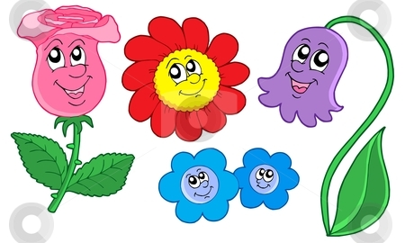 Cute flowers collection stock vector clipart, Cute flowers collection - vector illustration. by Klara Viskova