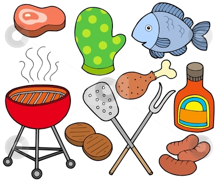 Barbeque collection stock vector clipart, Barbeque collection on white background - vector illustration. by Klara Viskova