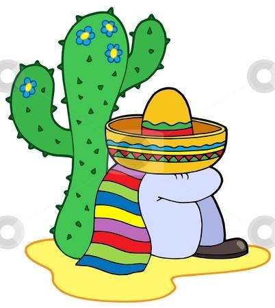 Resting mexican stock vector clipart, Resting mexican - vector illustration. by Klara Viskova