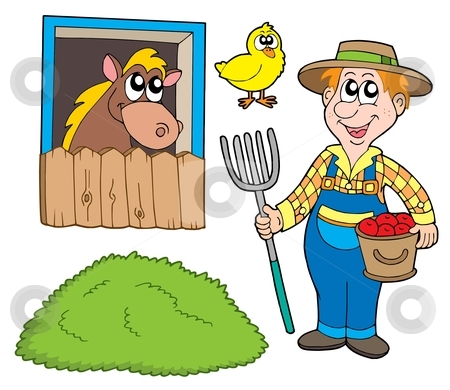 Farmer collection stock vector clipart, Farmer collection on white background - vector illustration. by Klara Viskova